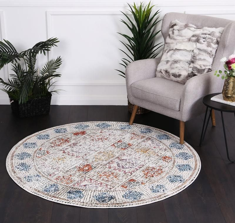 Montage Four Sesons Multi Round Rug Rugs In Living Room Round Rugs