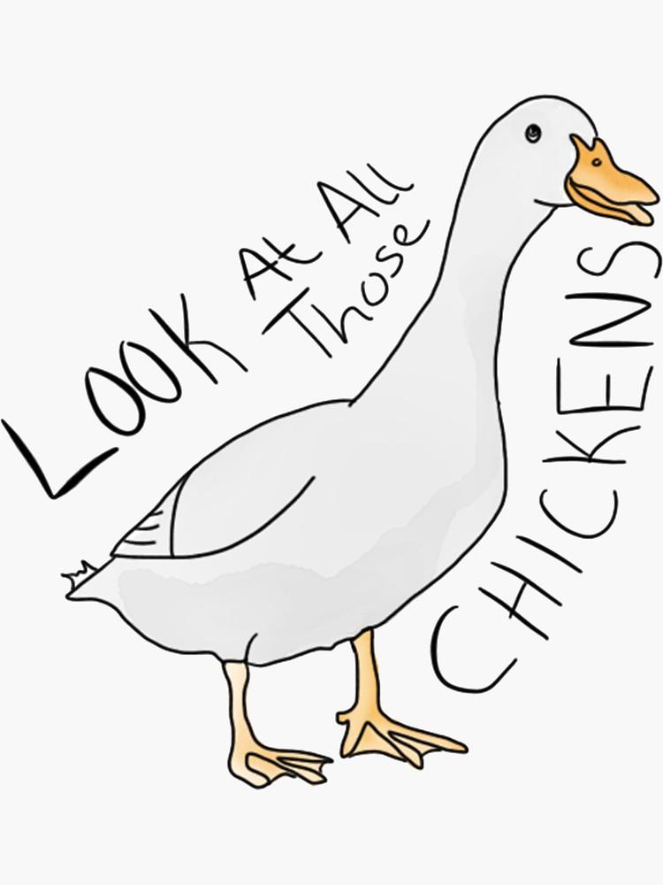 'CHICKENS' Sticker by Naim Choudhury