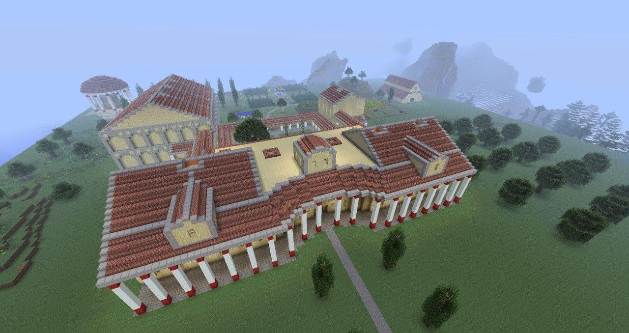 Ancient Roman Villa Minecraft Project  Villa minecraft, Roman