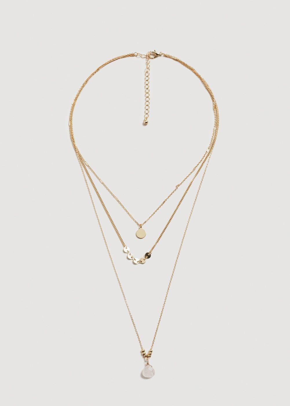 5c290f7ad879 Collar cadenas combinadas - Bisutería de Mujer
