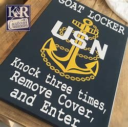 Image result for goat locaker | Vinyl images | Locker signs, Navy