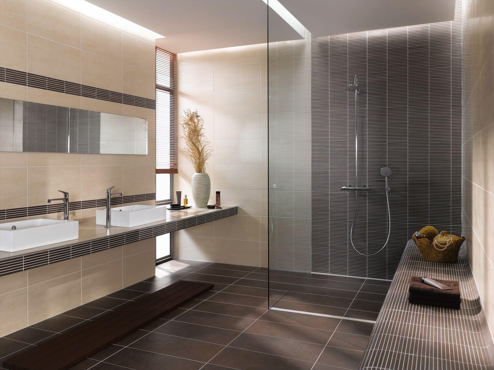 Dusche Mit Sitzbank Badezimmer Fliesen Badezimmer Braun Dekoration Badezimmer