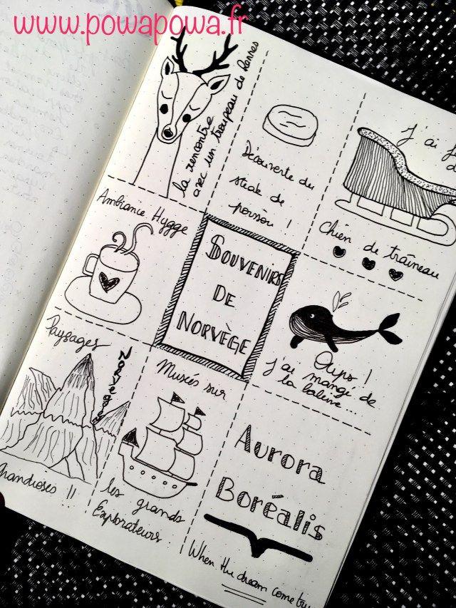 organiser ses vacances avec son bullet journal souvenirs. Black Bedroom Furniture Sets. Home Design Ideas