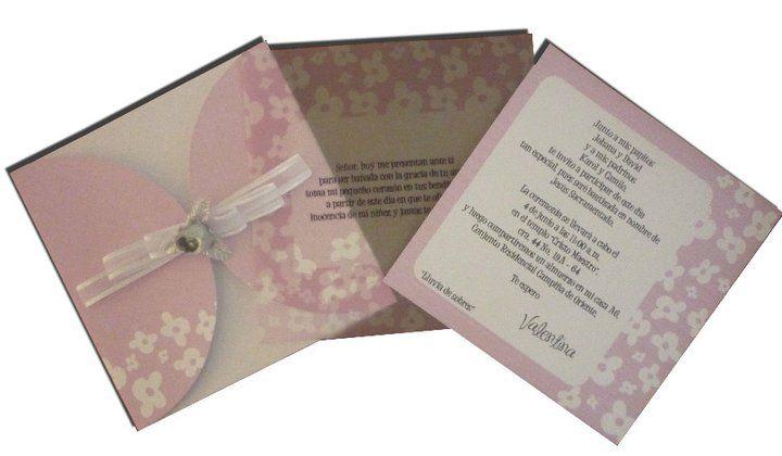 Invitación en color palo de rosa.