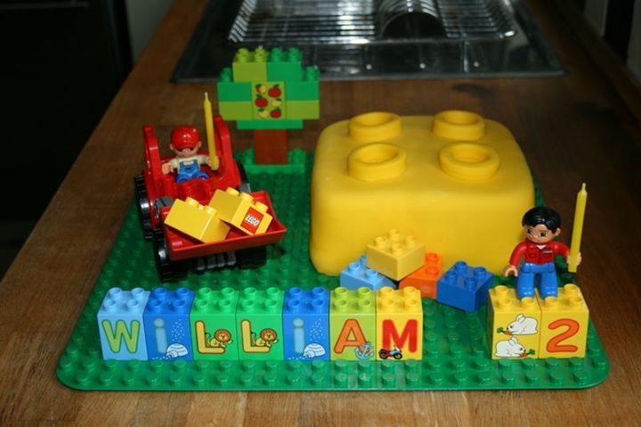 lego duplo 2nd birthday cake fondant cake pinterest. Black Bedroom Furniture Sets. Home Design Ideas
