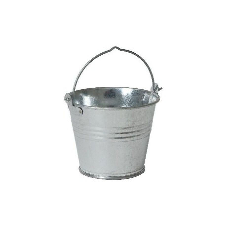 Servingchip bucket galvanised steel cm x cm h home decor