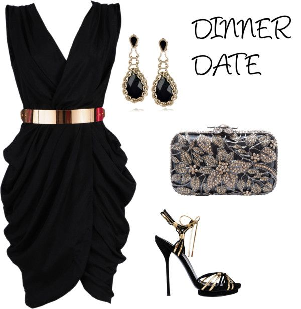 Dinner date dress created on polyvore.com