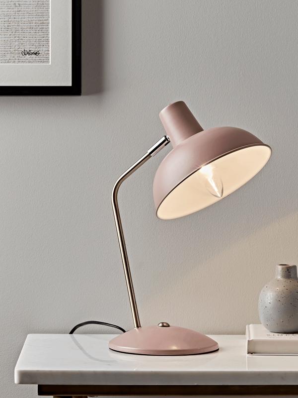 Blush & Brass Desk Lamp | Desk lamp, Silver floor lamp