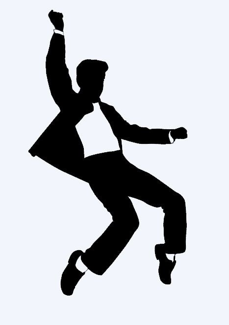 Rock Amp Roll Male Dancer 2 Car Truck Home Computer Decal