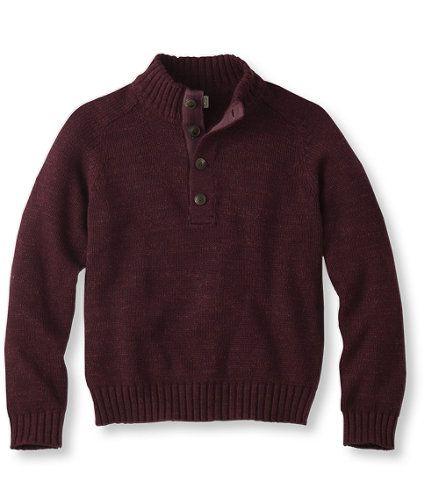 L.L.Bean Grand Lake Sweater, Button-Mock