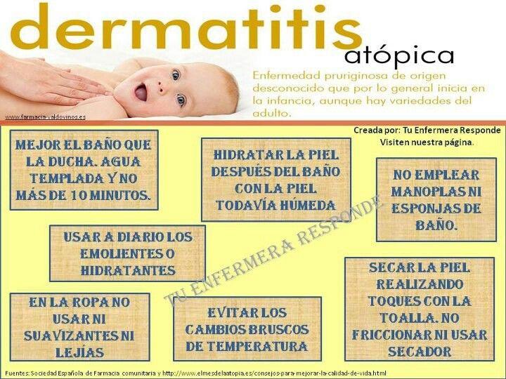 Consejos Dermatitis Atópica Auxiliar De Enfermeria Consejos Para La Salud Enfermeria Basica