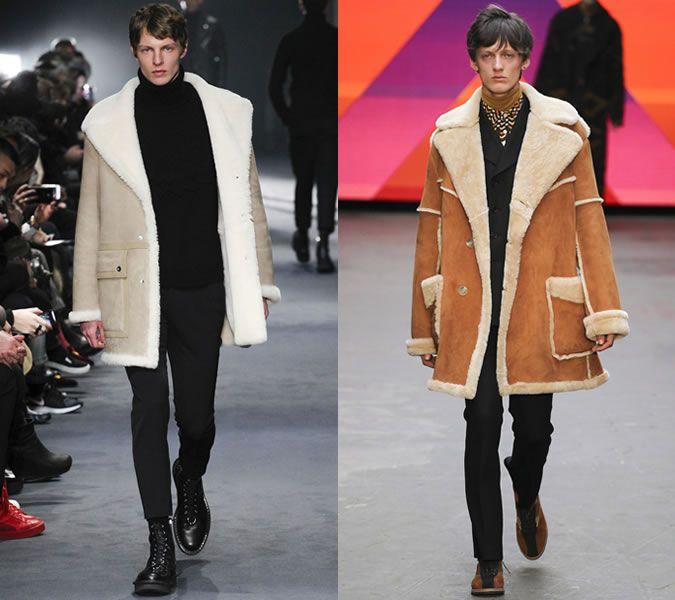 Long Shearling Coats On Topman Design And Neil Barrett AW15 ...