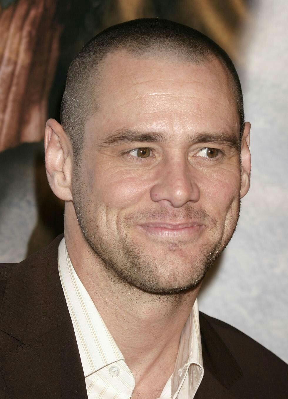 Pin By Simon Richards On A A Bald Or Shaved Bald Jim Carrey Mens Hairstyles Short Celebrities Male