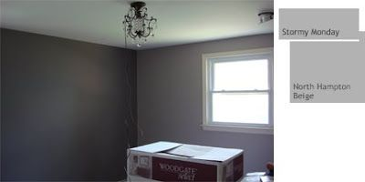 Paint Color Benjamin Moore Stormy Monday Is The Darker Wall