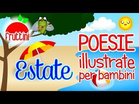 Poesia sull'estate per bambini | ESTATE di Roberto Piumini