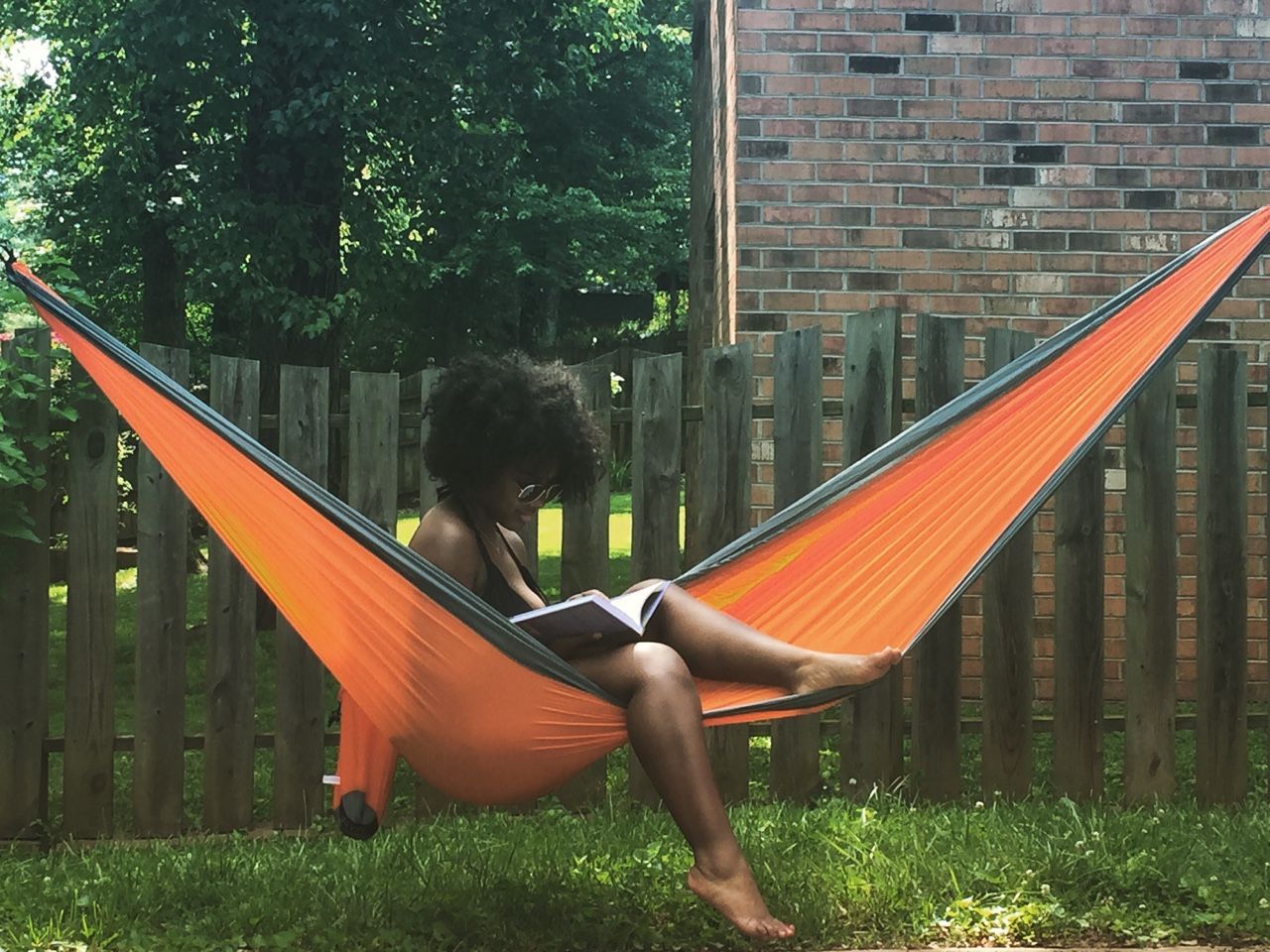 A Good Book Comfortable Hammock And Nice Day I Feel You