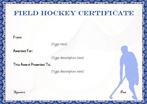 Freeprintablefieldhockeycertificateg 589416 Hockey