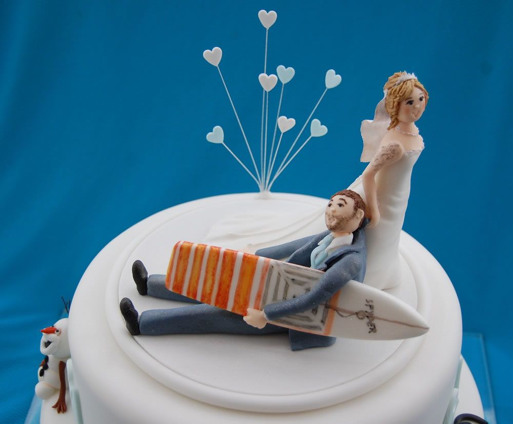 Bride And Groom Wedding Cake Topper Surfing Cake Price