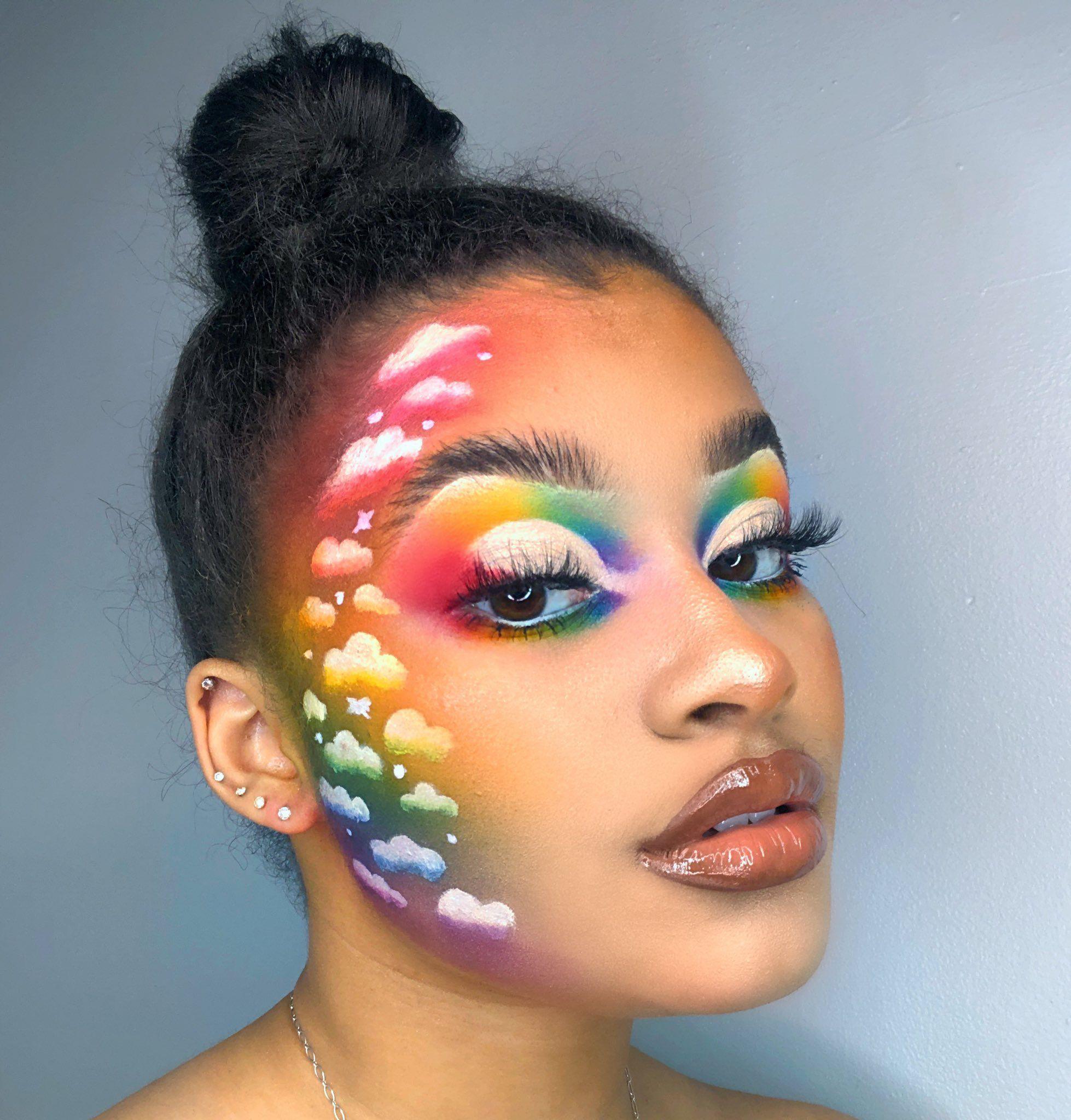 Pin by Melanie Abraham on MAKEUP in 2020 | Pride makeup ...