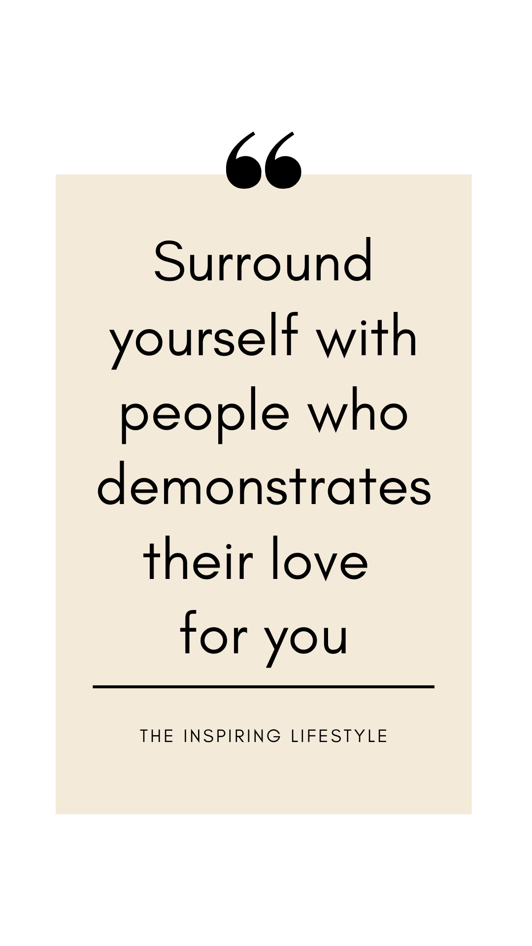 Surround yourself with love