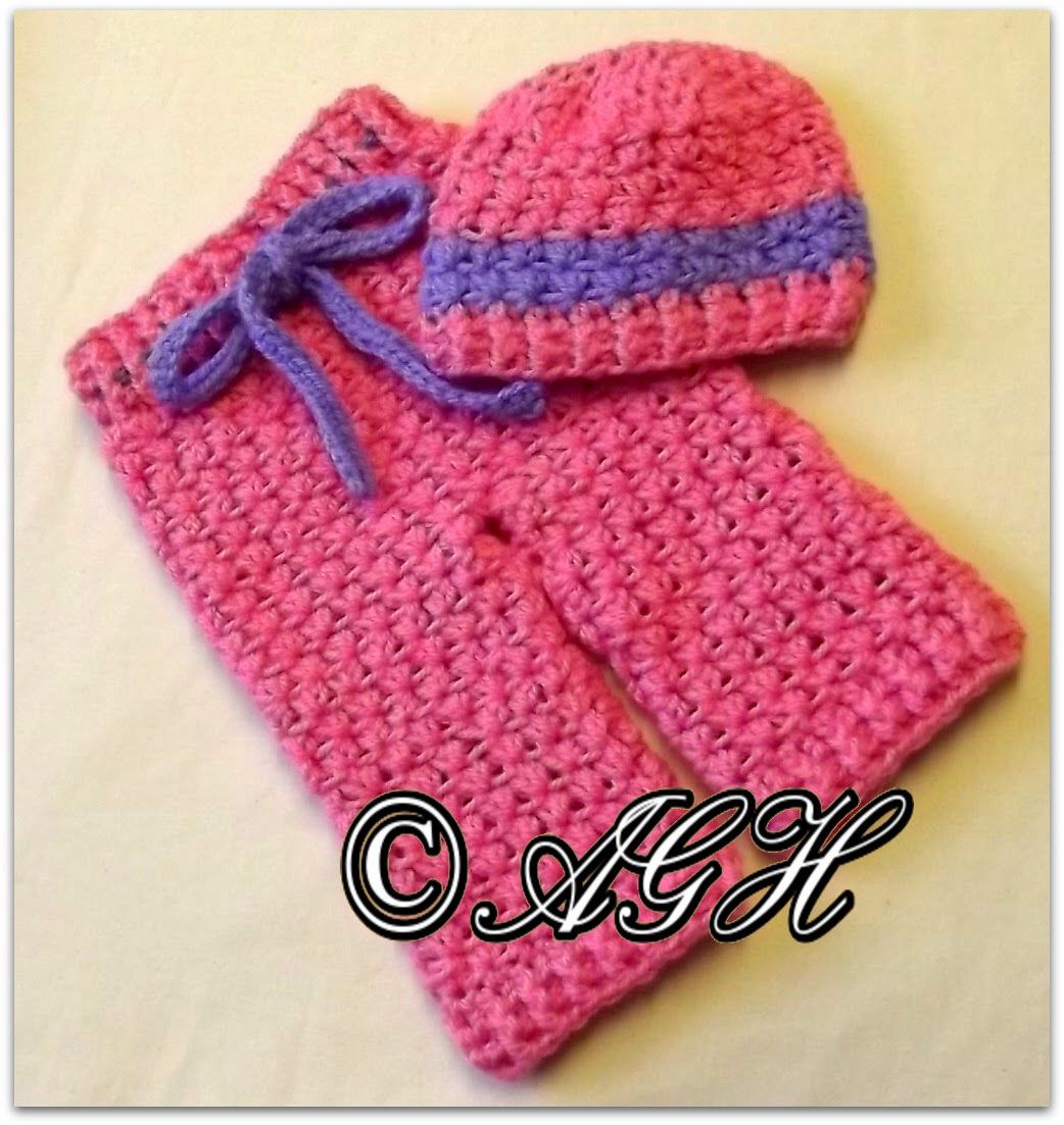 Daisy Crochet Baby Hat Pattern : AG Handmades: Daisy Baby Pants and Hat Crochet Baby ...