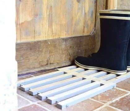DIY  un paillasson en bois design et fait-maison garage - tour a bois fait maison