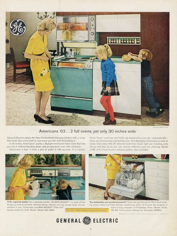 1963 Ge General Electric Americana Oven Range Ad 60s Kitchen Vintage Appliances General Electric Americana