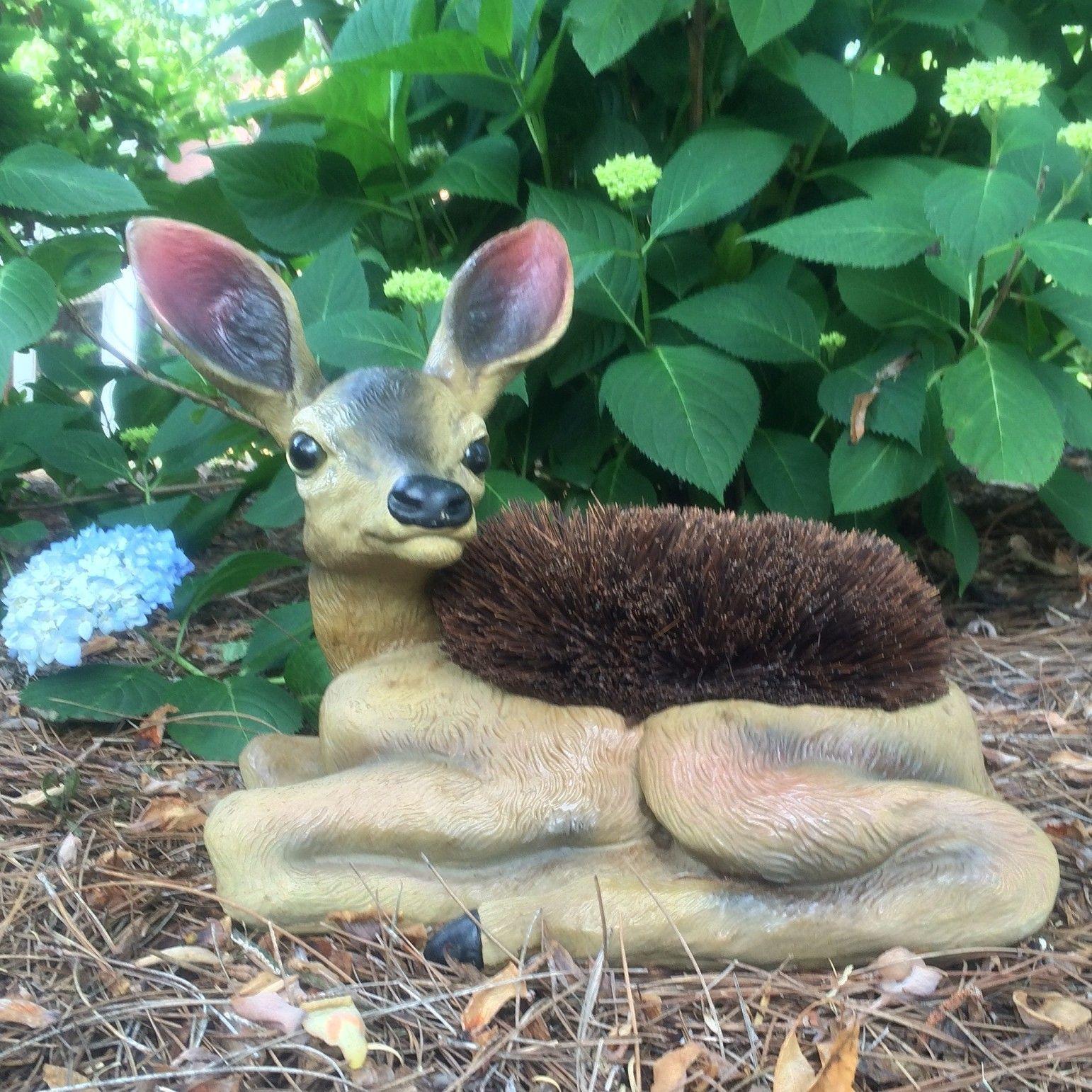 Call of The Wild Deer Boot Brush Scraper Fawn Statue
