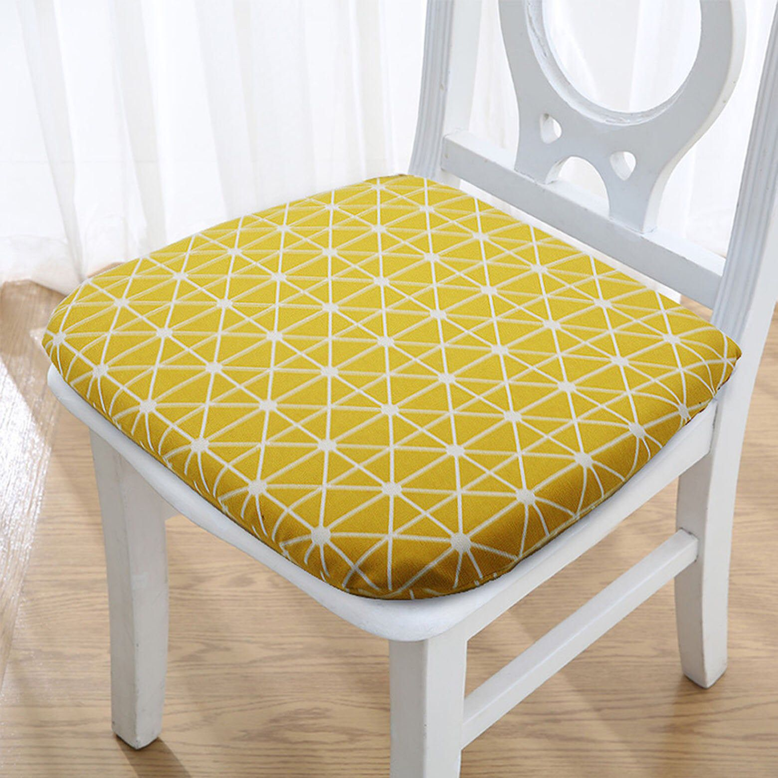 Memory Foam Dining Chair Cushion With Ties Indoor Kitchen Linen Chair Pad Washable Removable Replacement Breatha Chair Cushions Dining Chair Pads Chair Pads