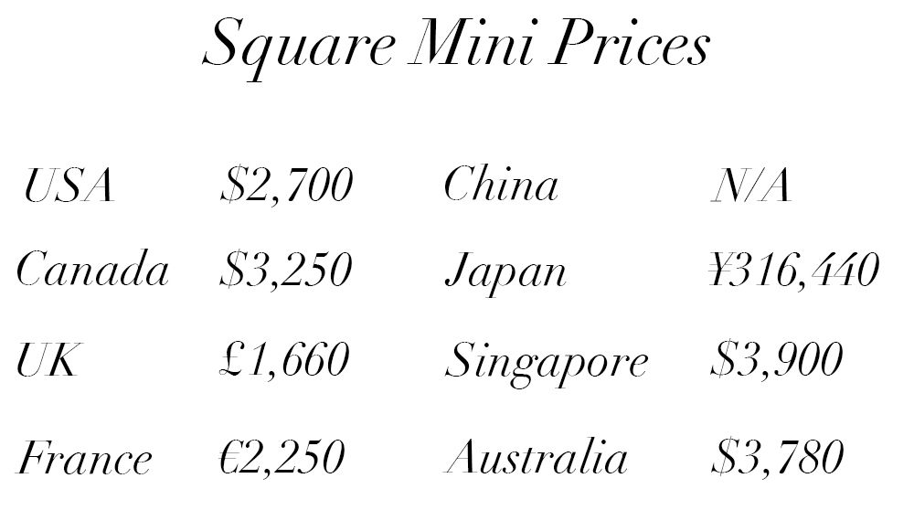 Chanel Classic Flap Bag Price Guide Square Mini 121015 Chanel Bags