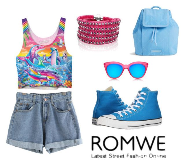 """""""Cuffed Denim Shorts"""" by lizf99 ❤ liked on Polyvore featuring Converse, Vera Bradley, Le Specs and Sif Jakobs Jewellery"""