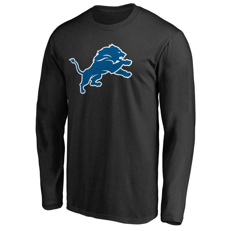 Detroit Lions NFL Pro Line Primary Logo Long Sleeve T-Shirt - Black