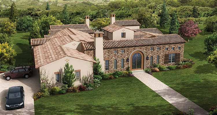 Mediterranean Style House Plan 4 Beds 4 5 Baths 5308 Sq Ft Plan 944 1