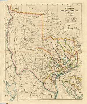 texas historical maps antique Texas Historical Maps Pinterest