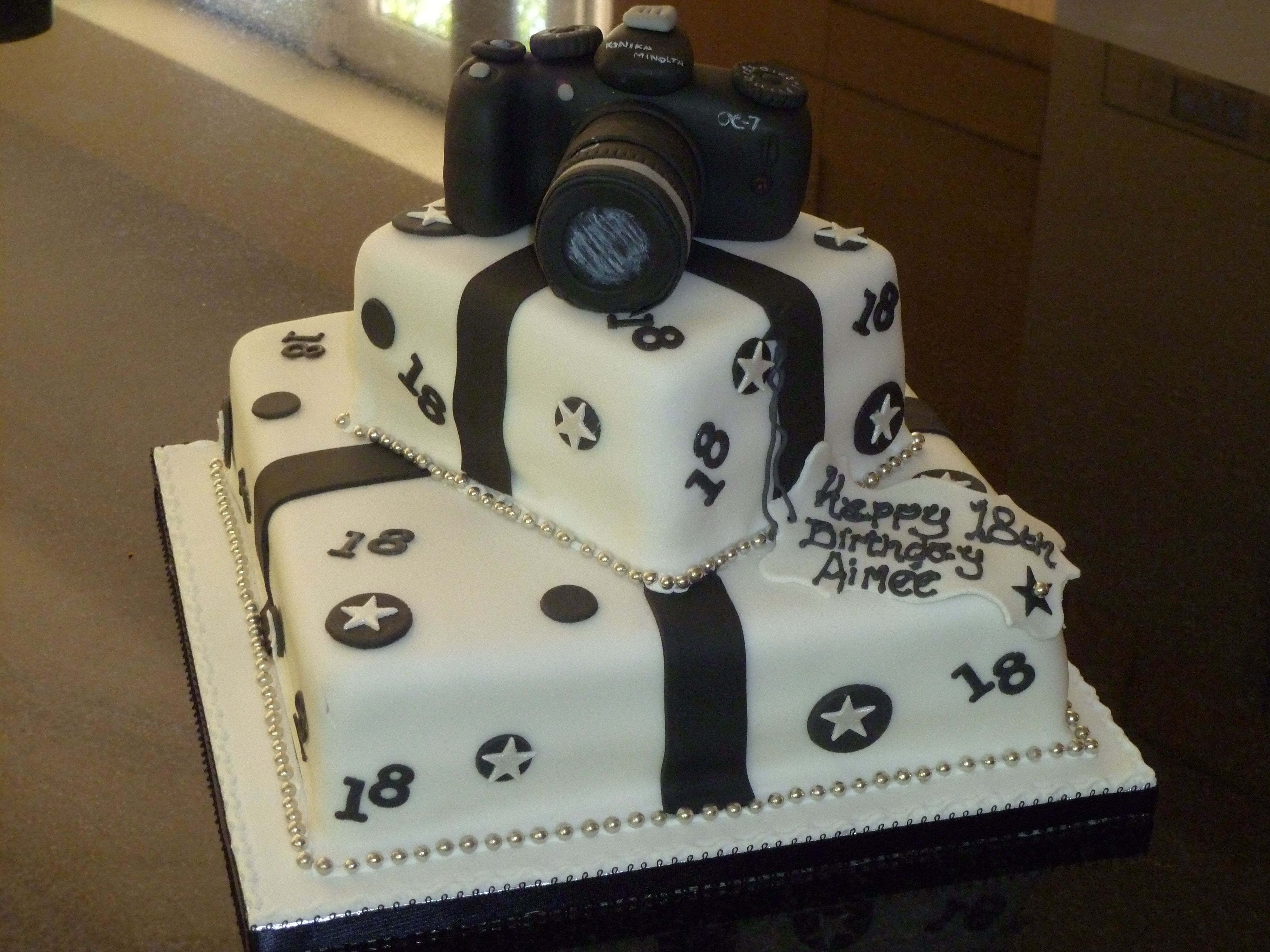 Excellent Two Tier Camera 18Th Birthday Cake With Images 18Th Birthday Funny Birthday Cards Online Barepcheapnameinfo