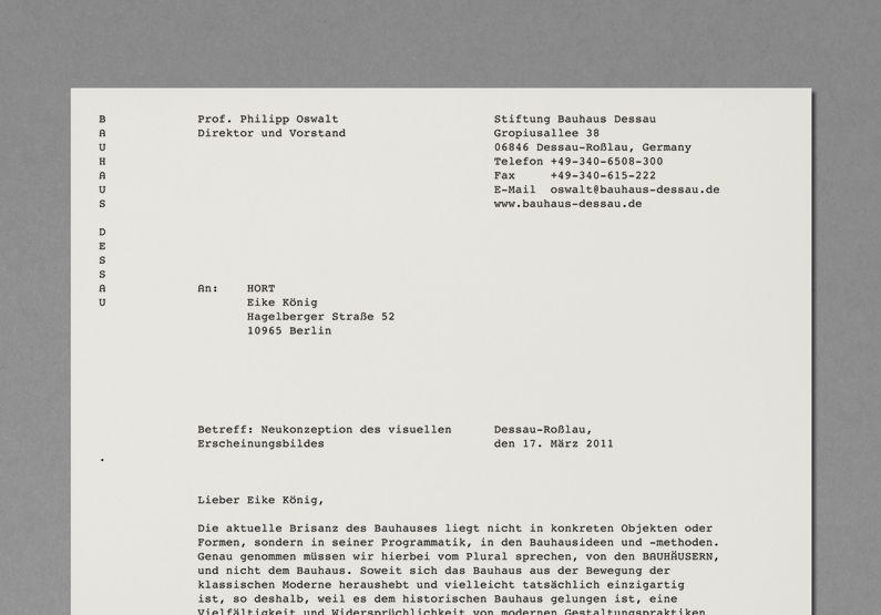 bauhaus dessau foundation identity by hort typography pinterest design och inspiration. Black Bedroom Furniture Sets. Home Design Ideas
