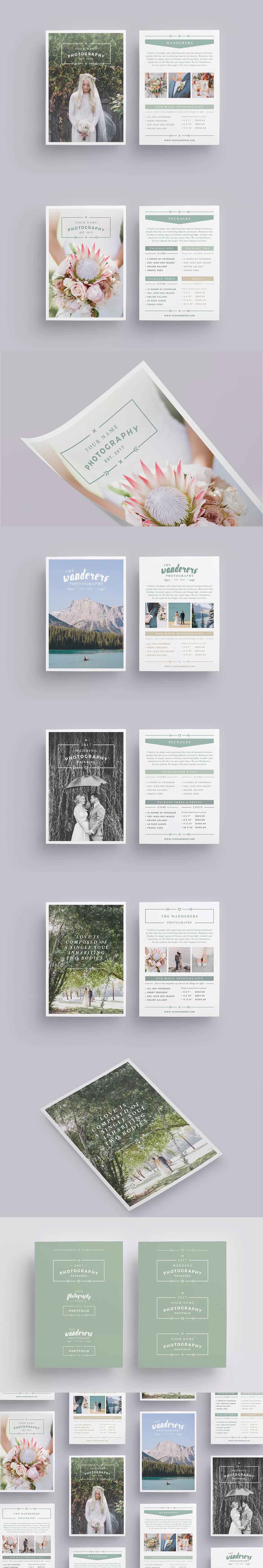 WANDERERS Wedding Flyer Price List Templates INDD, PSD, PDF