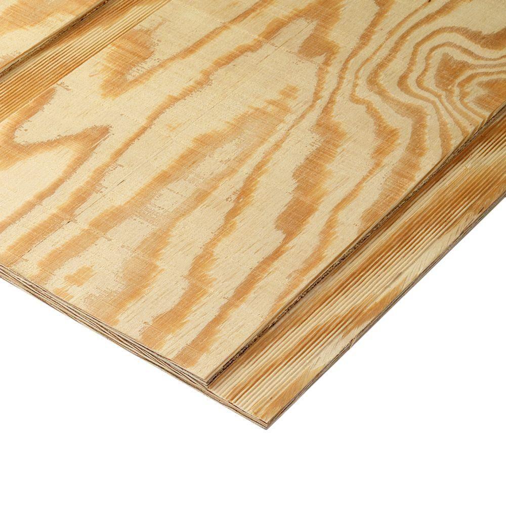 19 32 In X 12 In Premium Rbb Oc Plywood Siding 172564