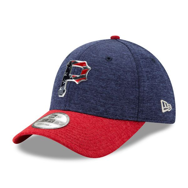0a7498f9c2a505 Pittsburgh Pirates New Era 2017 Stars and Stripes 9FORTY Adjustable Hat -  Heathered Navy/Heathered Red