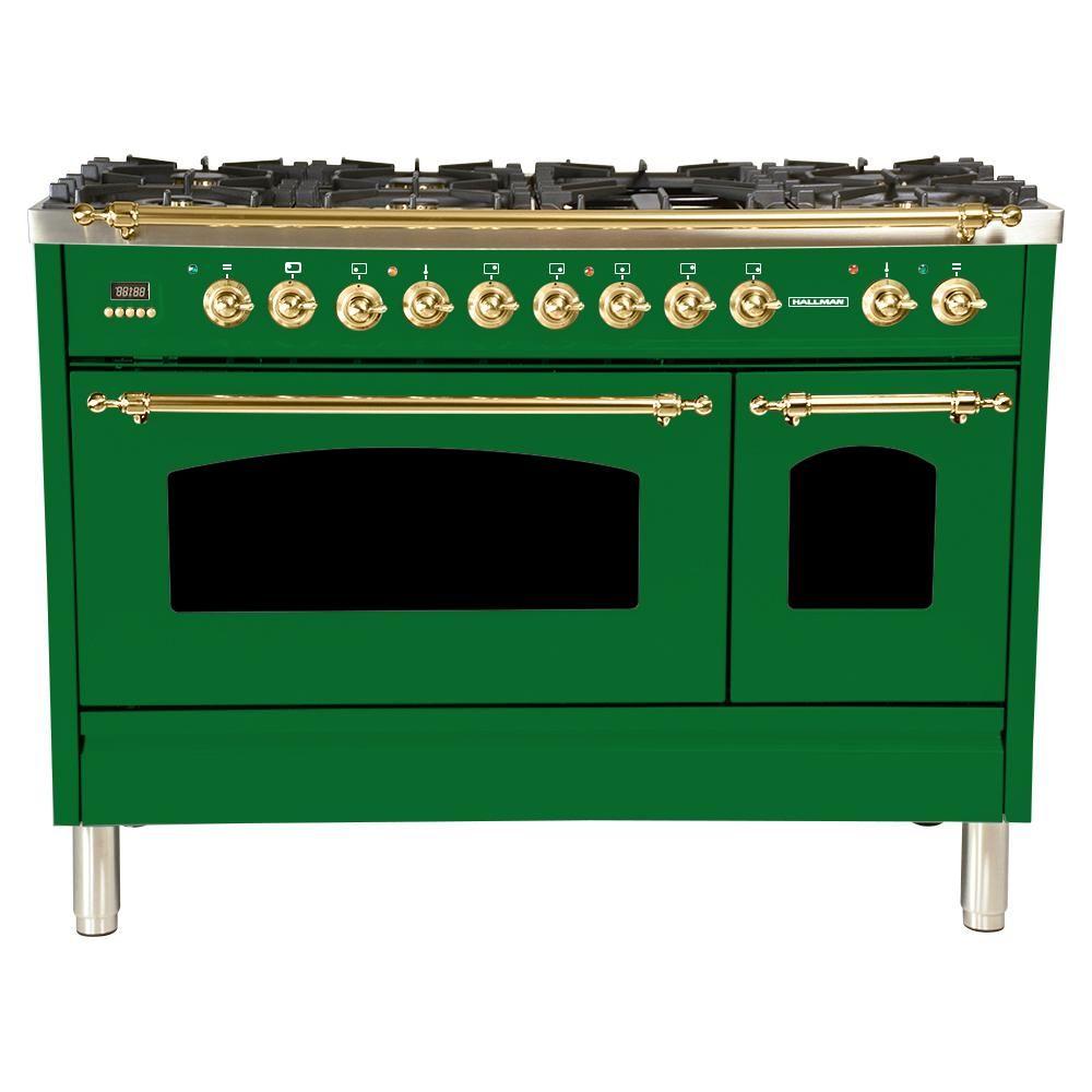 Hallman in cu ft double oven dual fuel italian range true
