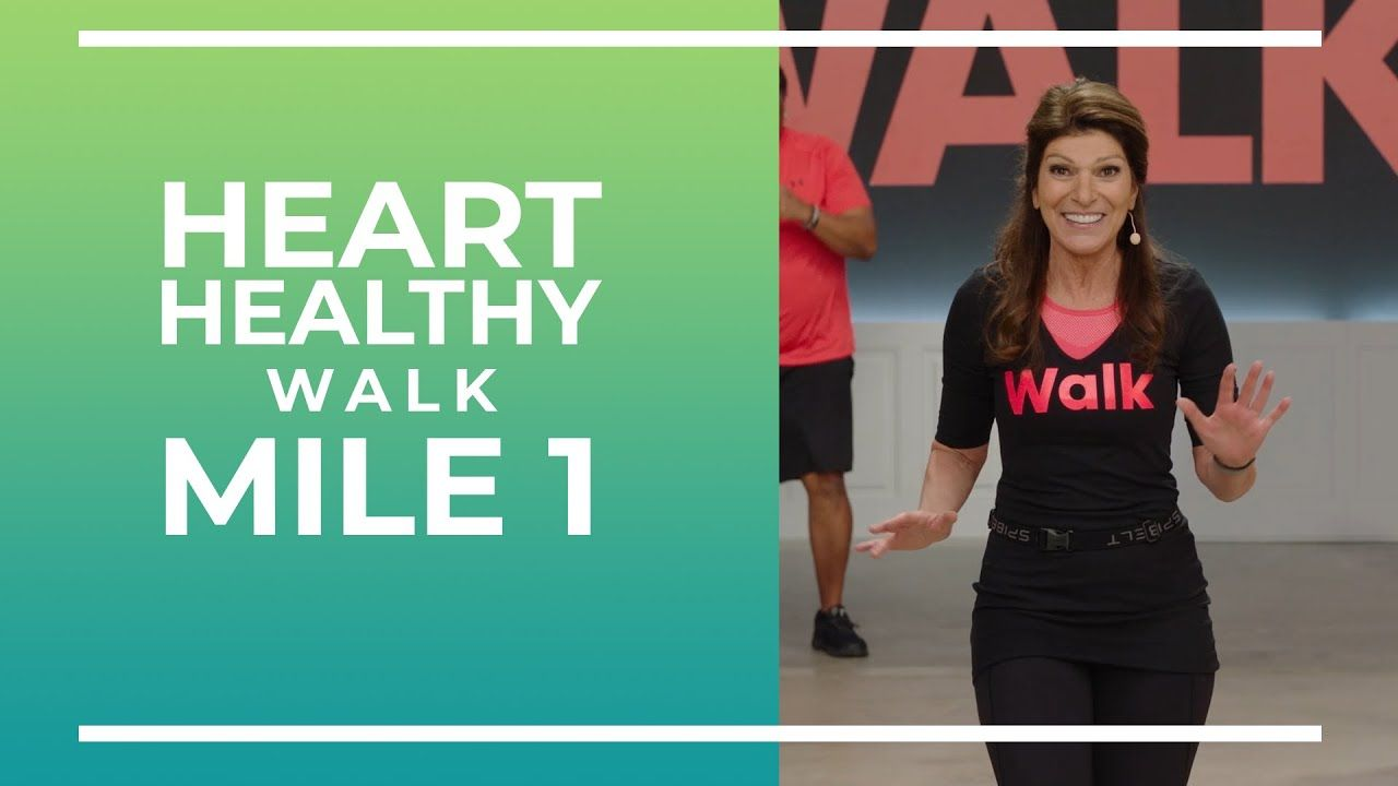 Heart healthy 1 mile walk walk at home youtube in