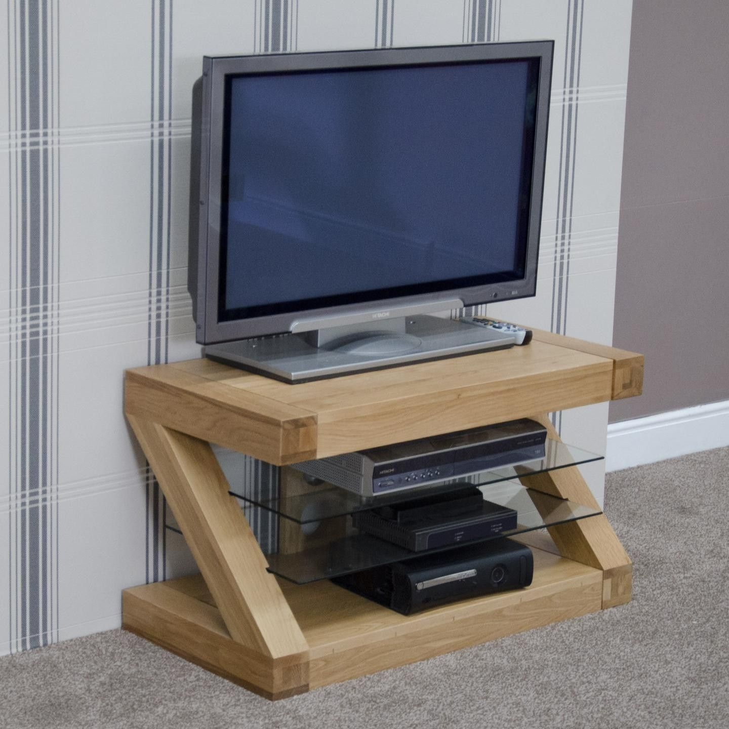 Zebra Oak Small TV Unit