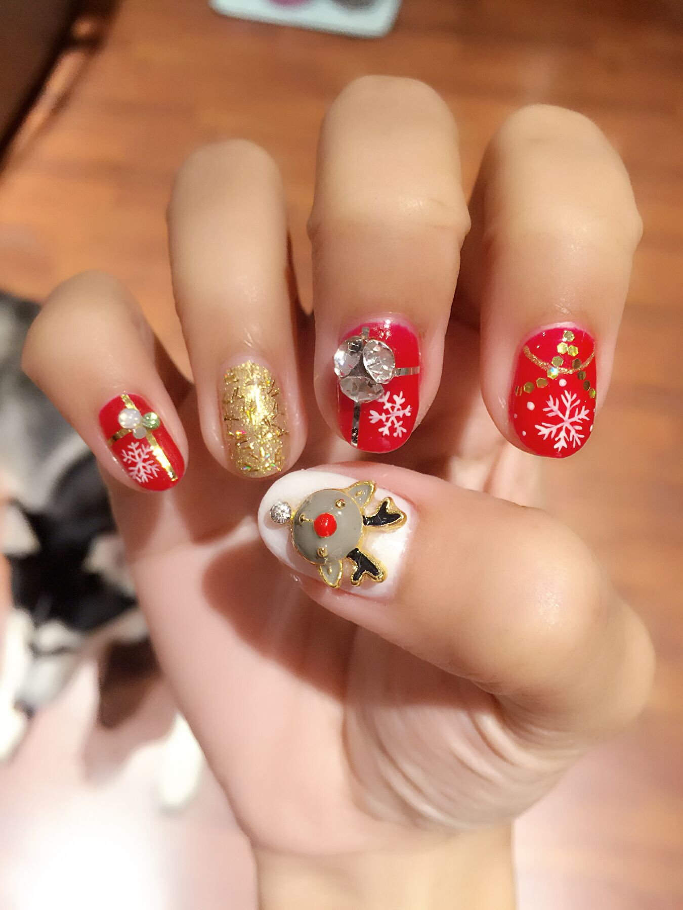 Fancy Christmas nail