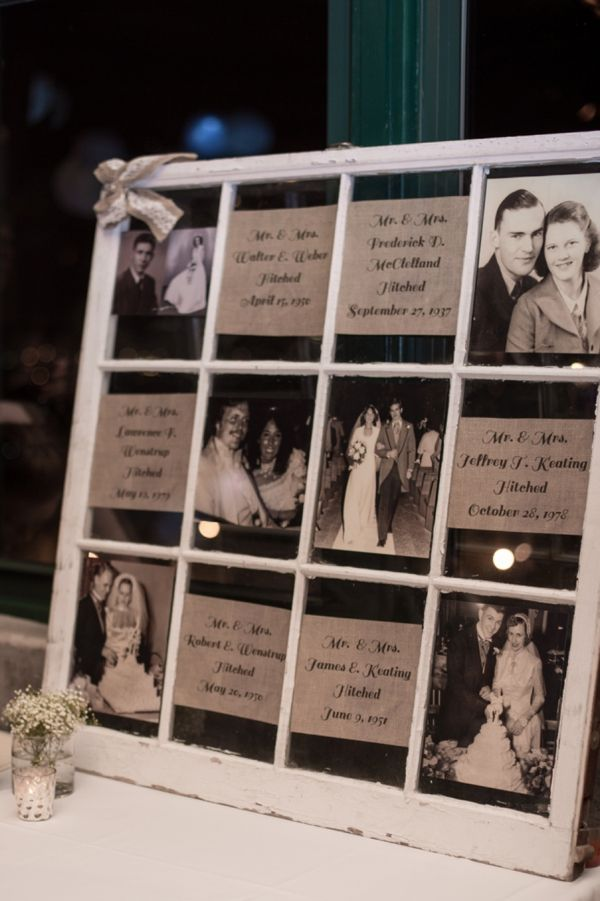 somehow incorporating photos of parents/grandparents getting married...