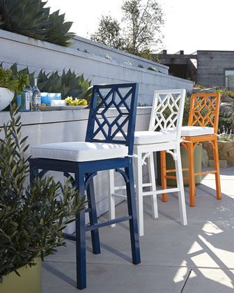 Tamsin Chinoiserie Barstool Blue Bar Stools Outdoor Bar Stools Bar Stools
