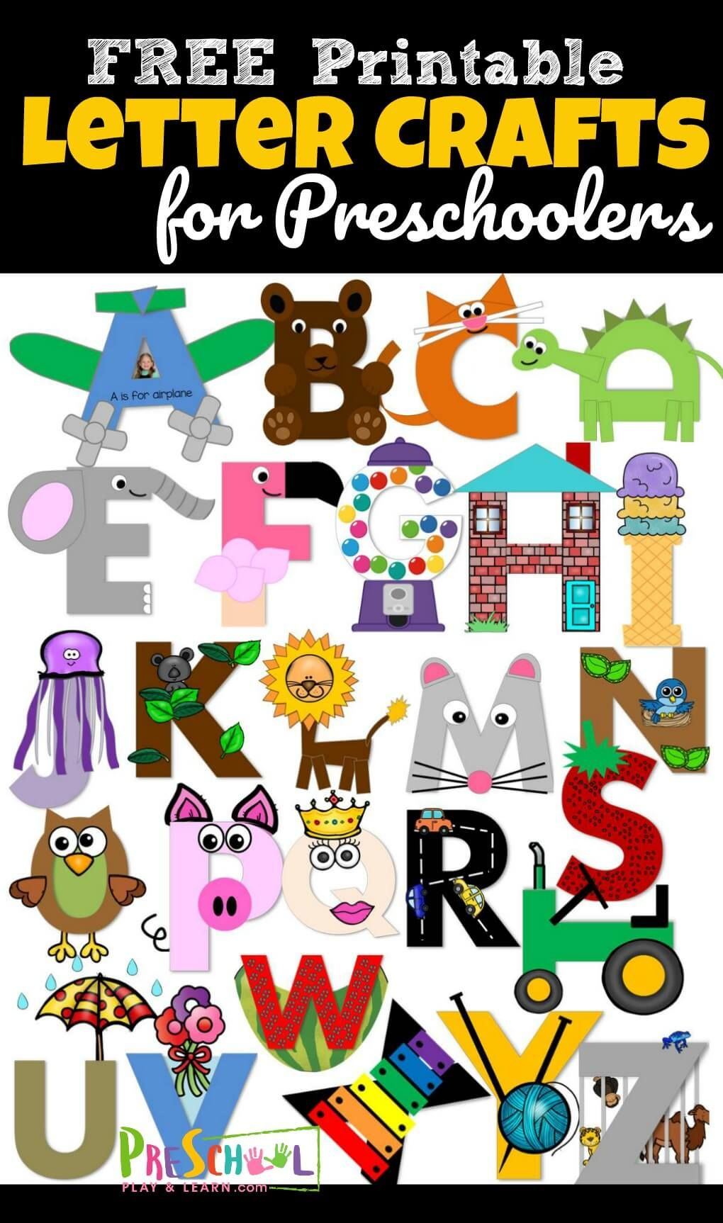 20 adorable alphabet crafts to make to practice uppercase letter ...