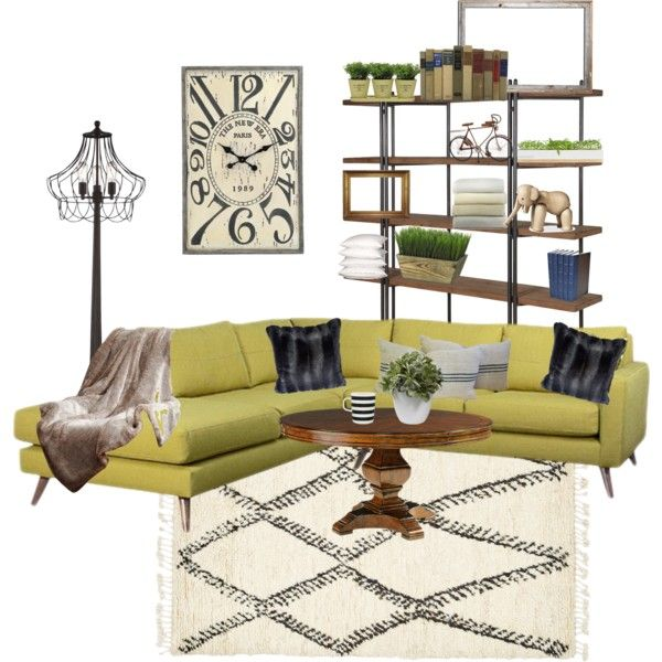 Modern rustic by camronvideofreak on Polyvore featuring polyvore interior interiors interior design home home decor interior decorating TrueModern Franklin Iron Works Peacock Alley Torre & Tagus Bambeco Marimekko Kay Bojesen Helen Moore Nearly Natural Dot & Bo modern rustic