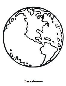 kleurplaat wereldbol rond de wereld bijbelknutselwerk