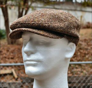be99b2603a1 Woolrich Wool Tweed Ivy Newsboy Cap Men Gatsby Hat Golf Driving Flat Cabbie  USA