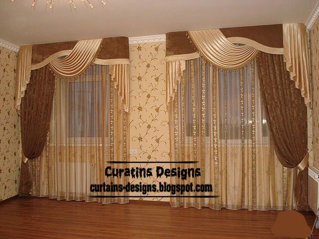 Exclusive contemporary windows curtain designs for living for Types of living room windows